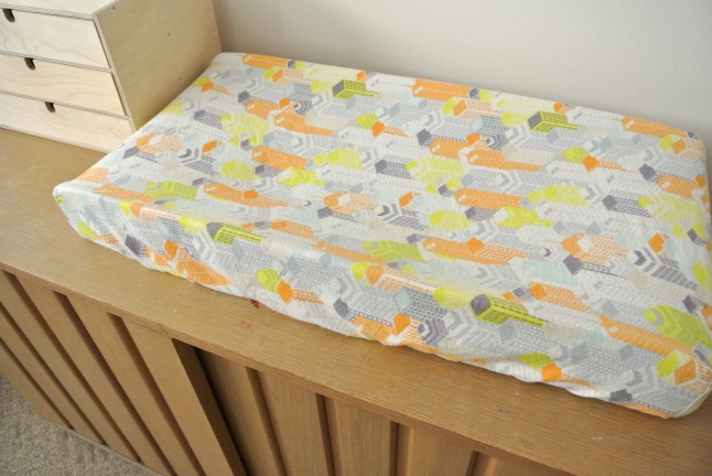 Changing pad front