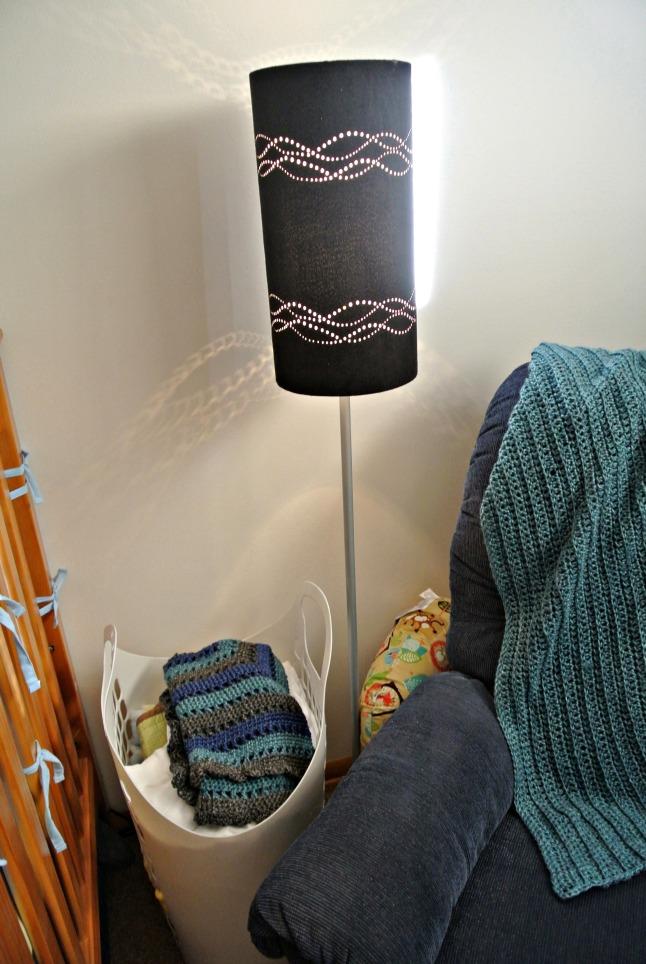 lamp and basket detail