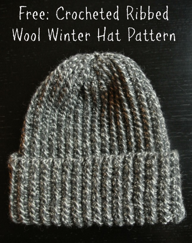 Crochet Pattern Ribbed Wool Winter Hat Margeaux Vittoria