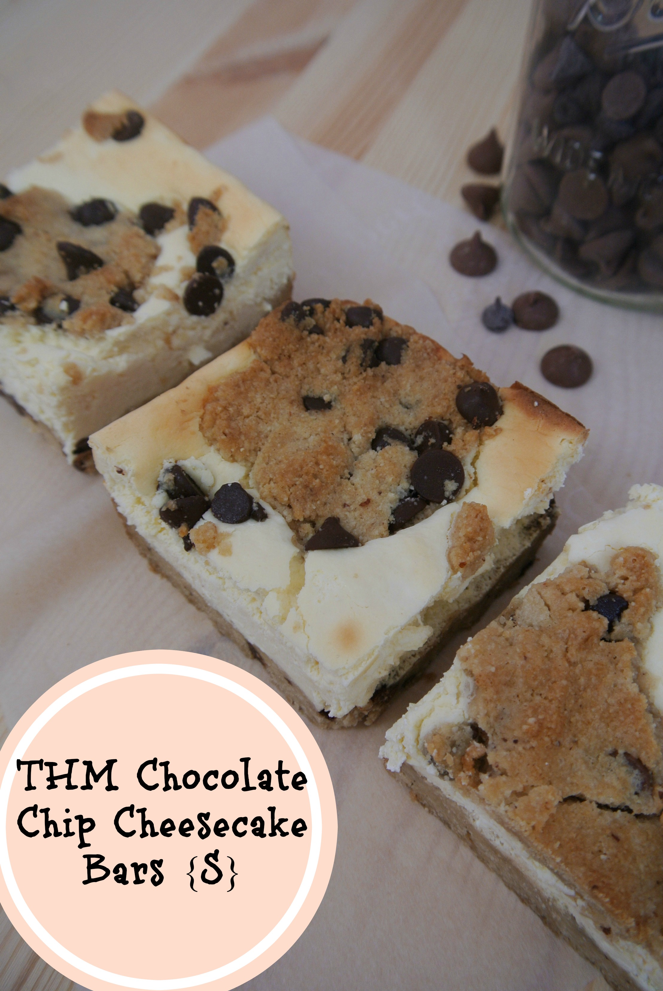 Trim Healthy Mama Chocolate Chip Cookie Cheesecake Bars | Margeaux ...