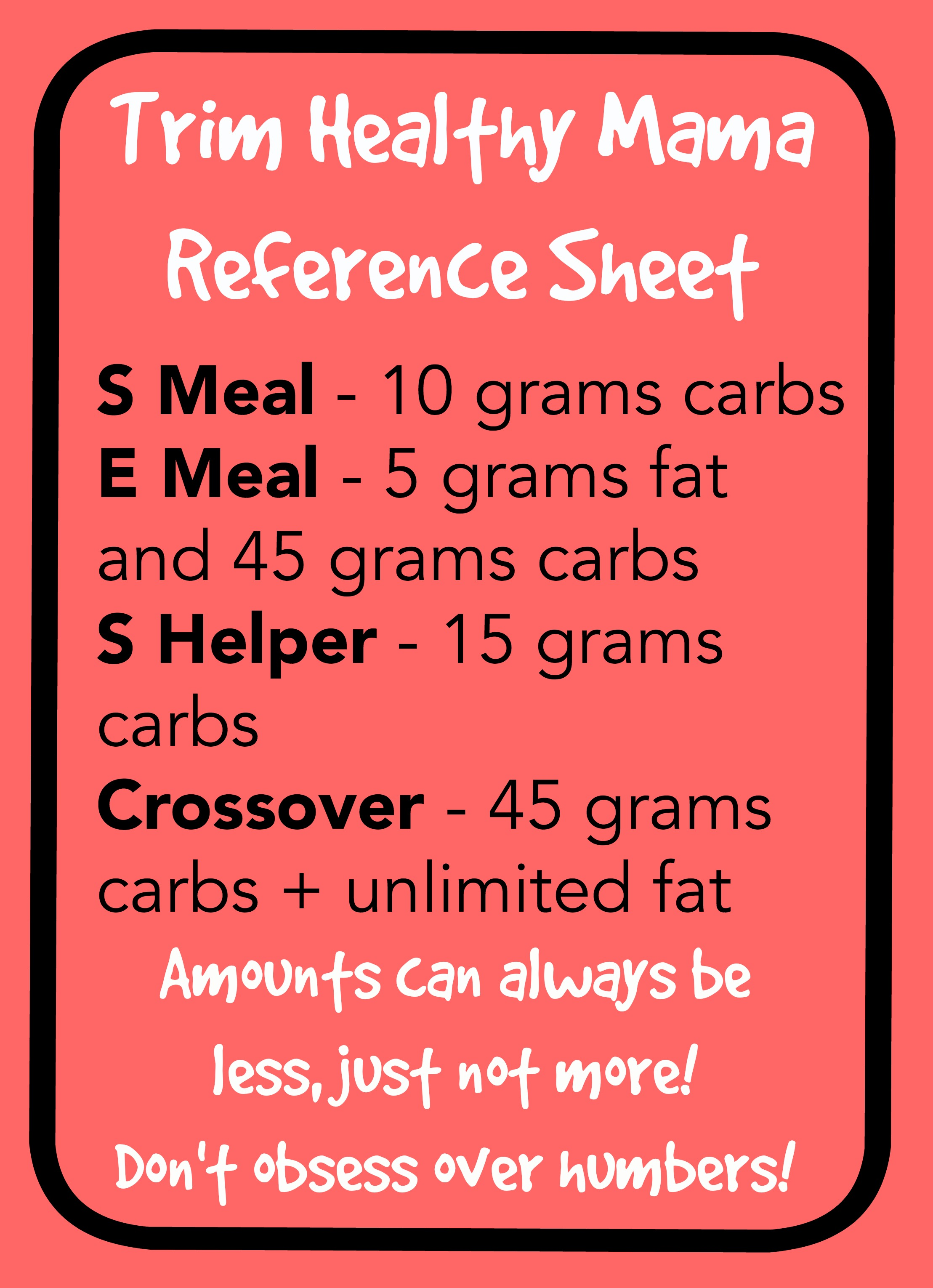 Thm Meal Guidelines Reference Sheet Margeaux Vittoria